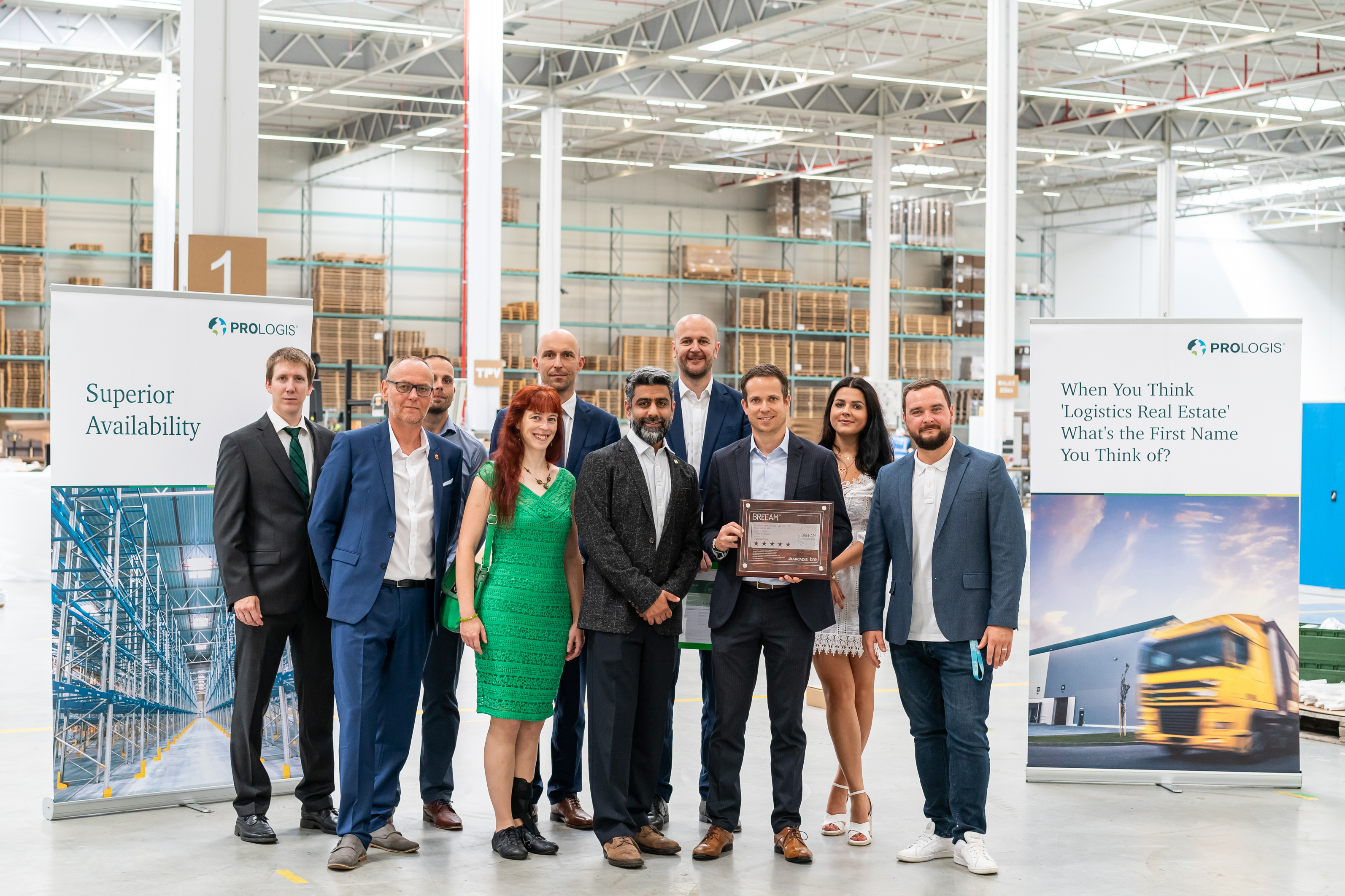 "It´s official! Prologis receives BREEAM ""Outstanding"" certificate at ceremony in Prague"