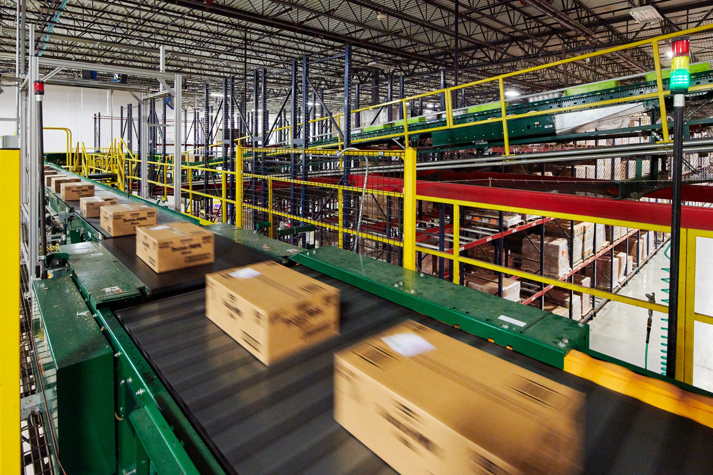 Partial fixed automation: Conveyors, palletizers, pallet shuttles, vertical lifts
