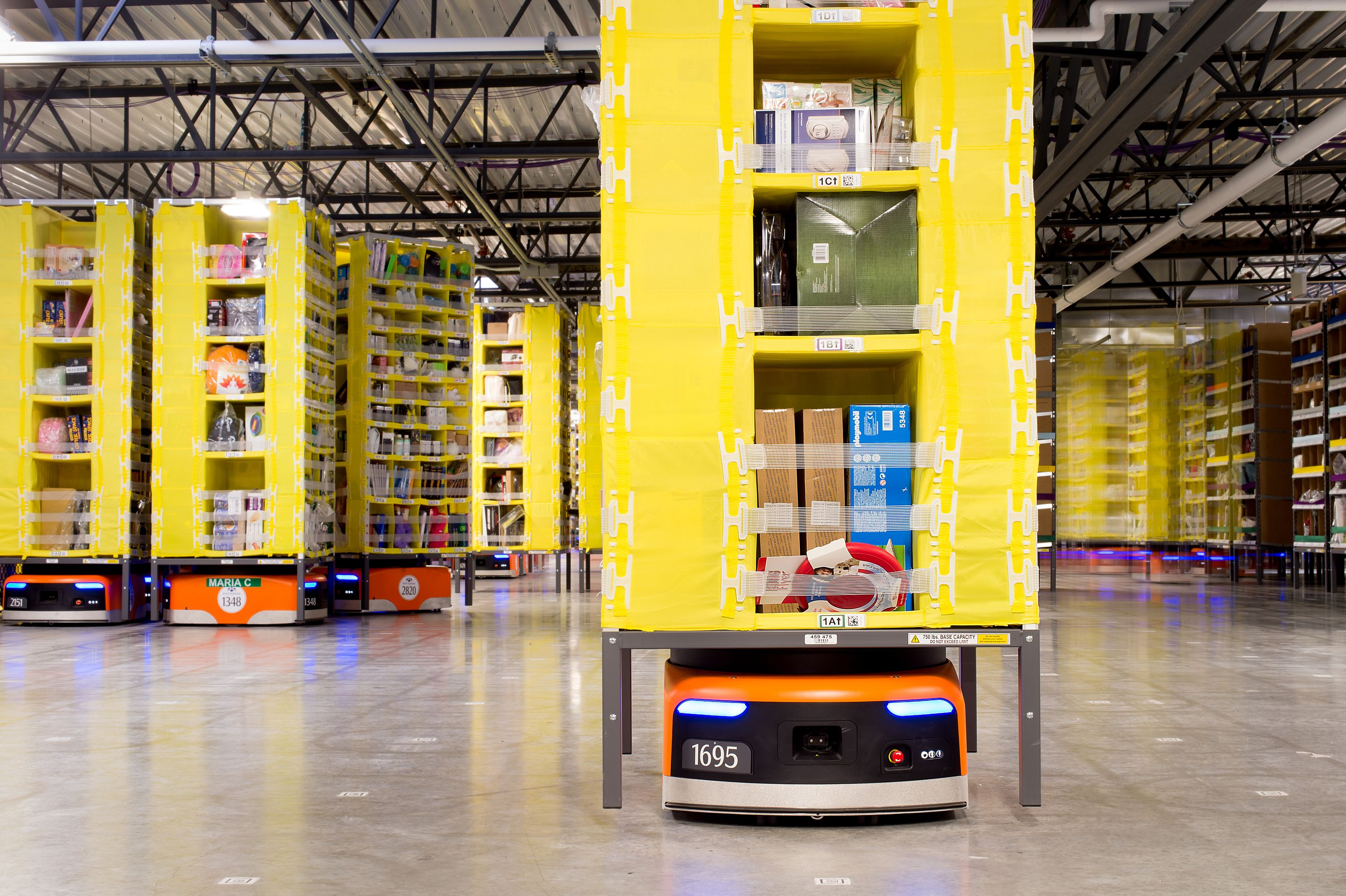 Mobile automation: Autonomous Mobile Robots (AMRs), Automated Guided Vehicles (AGVs)