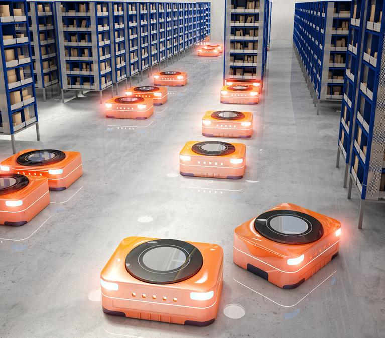 Automated warehouse robots