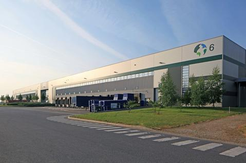 Logistic park in Chanteloup, warehouse center in France