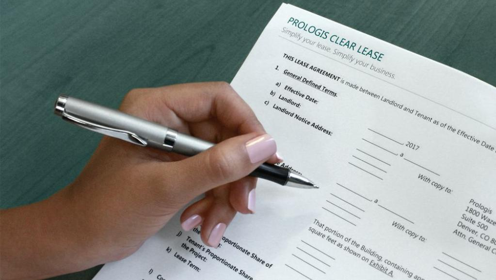 Signing the Prologis Clear Lease