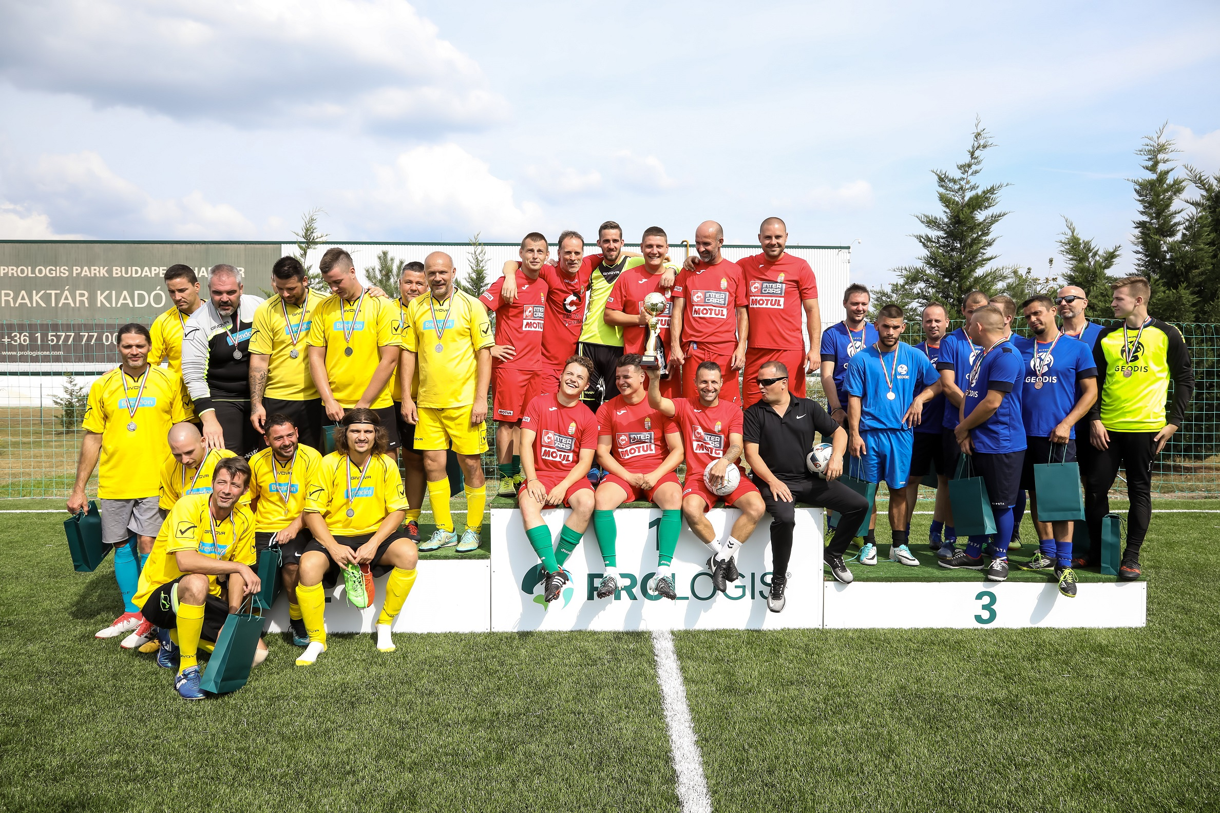 Winners of 6th Prologis Budapest Football Games
