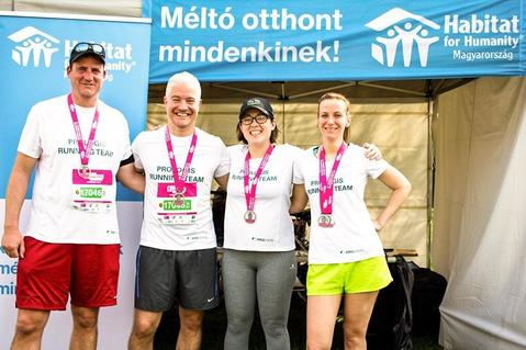Prologis Hungarian team in a charity run with Habitat for Humanity